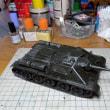 タミヤ1/35 ソビエト SU-85襲撃砲戦車 製作記 その2・本体組立て完了