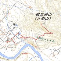 八剣山のGPSトラック