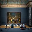 アムステルダムの国立博物館で、レンブラントの「The Night Watch」をライブで修復。