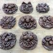百合が丘保育園さん☆卒園記念品制作 面シーサー作りにチャレンジ 窯出しを行いました。