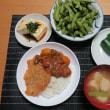 わらじカツカレー・・・250円。 炊屋食堂の暑い時はこれ !  メニュー・・・ 夏、