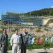 石狩市厚田の道の駅の建設現場を視察しました。