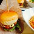 米パンサンドとスパゲティーのセット