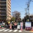 昭島市宮沢町(旧番地)で拡幅工事進行中