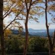 展望台から田沢湖を見る