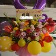 川越市 ガールズバー お誕生日のスタンド花