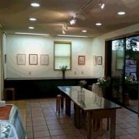本日からプルシアンブルー絵画教室作品展の開催です