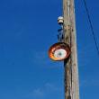 壊れた堤防の街灯   (Photo No.14119)