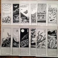 手作りカレンダー「里山花鳥風月暦」2016版