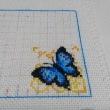 青い蝶のビスコーニュ-2 2羽目の蝶のステッチ中に・・・(;^ω^)