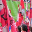 鹿島サポが柏選手を旗で攻撃→永久追放