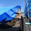土蔵の屋根修理工事 始まりました。