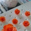 お砂糖で作った薔薇  ~オレンジ色~