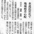 「水道民営化で地域格差心配」新聞投稿記事から