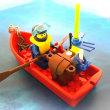 手漕ぎボートとダイバーのセット|リブロ(ブロックの再生工場)