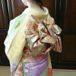 29.12.9 出張着付1件目は堺市北区、ご友人の結婚式に行かれる振袖の着付でした。