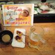 京橋のモーニングサービス special price! one beer and two plates for 5 dollars from 10 to noon