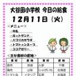 今日(12/11火)の給食