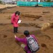 しばし歴史のロマンに浸る。北柏駅北口土地区画整理地内の発掘調査を見学。