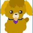 シェイプアートの干支の犬を描きました