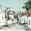 1629.アルペドリーニャの町角