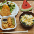 ミニ天丼&玉ねぎフライ