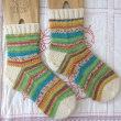手編み靴下 作品NO.186