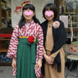 小学校ご卒業おめでとう!袴のお嬢ちゃんたち