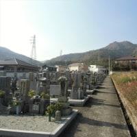 月1の墓参りに…