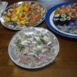小肌の押し寿司、お稲荷さん、茶巾寿司つくりました。