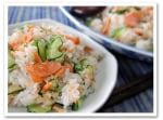 簡単おいしい~鮭とキュウリの混ぜ寿司