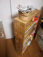 DIY+セリア*食品収納棚