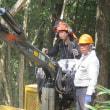 高性能林業機械を活用した木材搬出実習