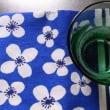 almedahlsのティータオルと、無印良品のグリーングラス