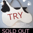 SOLD OUT THANKS コッカーシルエット型ドアプレート TRY