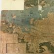 仮題 長崎絵図 享保2年木版多色摺 大きいキズあり