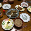 夕飯。友達の所で簡単飯。いただきます。