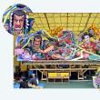 台上げ作業が始ったラッセランド(ねぶた祭 No2)