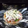 朝ご飯は久しぶりにピザを作りました