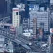 東海道新幹線は浜松町付近を走行の700系(2018年1月6日 オマケは東京の夕陽)