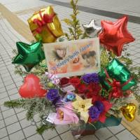 大宮ソニックシティ クリスマスバルーンスタンド 楽屋花