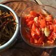常備菜は赤ピーマンの甘酢煮ときんぴら