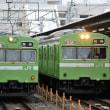 JR西日本 京都(2018.2.12) クモハ103ー230、186並び