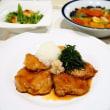 ☆豚ヒレ肉の照り焼き たっぷりおろしのせ☆