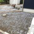 雨の中で29平米のコンクリート打設作業 茨城 利根
