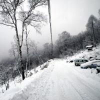 年末の雪遊び