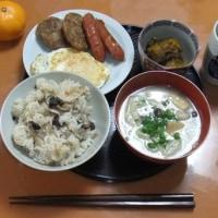 原木シイタケでお昼ご飯