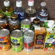 缶ジュースが十数缶…。