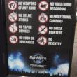 ハードロックライヴの禁止事項