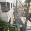 強い雨です。